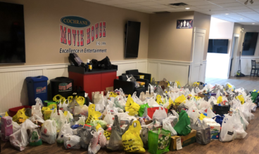 Movie House hosts drive-through food drive supporting the Cochrane Activettes Food Bank